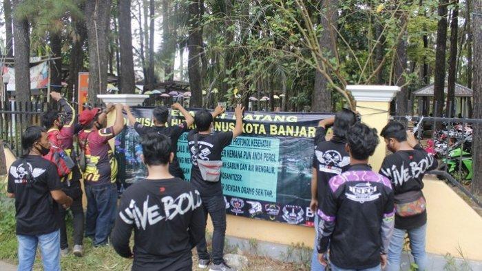 Pasang Banner dan Spanduk, 11 Komunitas Motor Ini Ingin Bangkitkan Wisata Hutan Pinus Banjarbaru