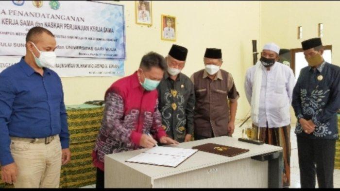 Bantu Pemulihan HST Pascabanjir, Universitas Sari Mulia dan Uniska Terapkan MBKM