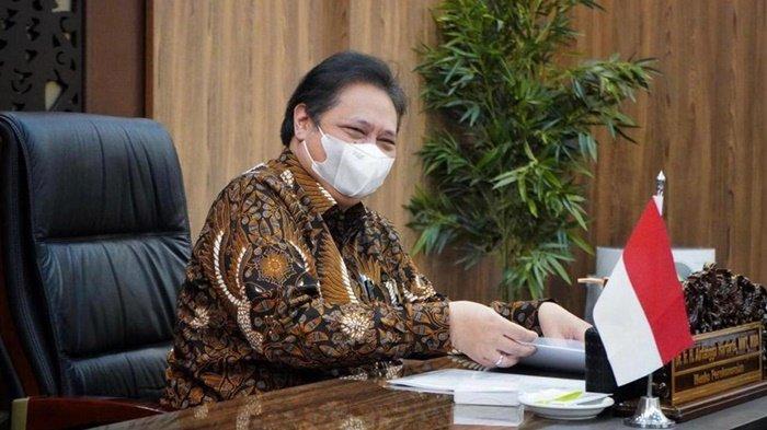Menteri Koordinator Bidang Perekonomian yang juga Ketua Komite Penanganan Covid dan Pemulihan Ekonomi Nasional (KPCPEN), Airlangga Hartarto, menyampaikan penanganan Covid-19 di Indonesia kepada delegasi Komite Internasional Palang Merah (ICRC), Jumat (30/4/2021).