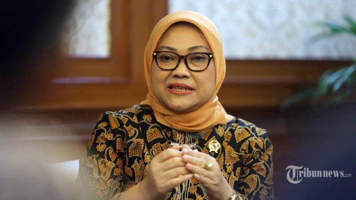 Menteri Ketenagakerjaan RI, Ida Fauziah saat diwawancarai secara khusus oleh Tribunnews di Kantor Kemnaker RI, Jakarta Selatan, Rabu (4/3/2020). Wawancara tersebut terkait sejumlah isu yang berkembang seperti RUU Omnimbus Law dan pekerja migran Indonesia.