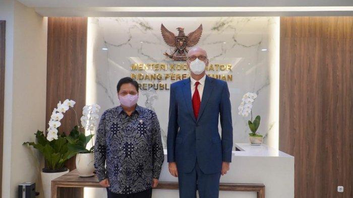 Menteri Koordinator Bidang Perekonomian Airlangga Hartarto melakukan pertemuan dengan Duta Besar Republik Ceko untuk Indonesia Jaroslav Dole?ek di Jakarta dalam rangka Courtesy Call