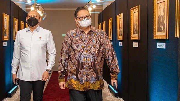 Menteri Koordinator Bidang Perekonomian, Airlangga Hartarto, saat menghadiri Rakernis Bareskrim Polri dan menyampaikan pidato yang berjudul Kebijakan Kemenko Perekonomian dalam mendukung Pemulihan Ekonomi Nasional, Selasa (6/4/2021).