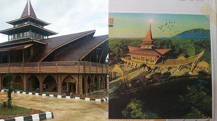Masjid Bambu Kiram Disebut Tak Mirip Dengan Desainnya, Ini Penjelasan PUPR Kalsel