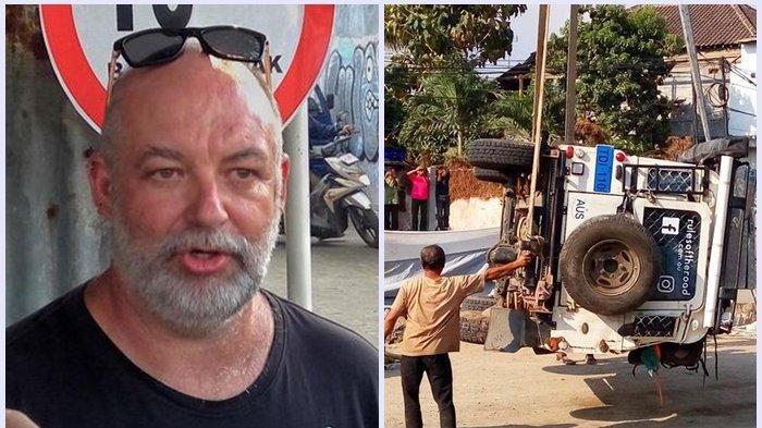 Traveling dengan Land Rover, Warga Australia Ini Selamat Saat Terguling di Underpass Kentungan
