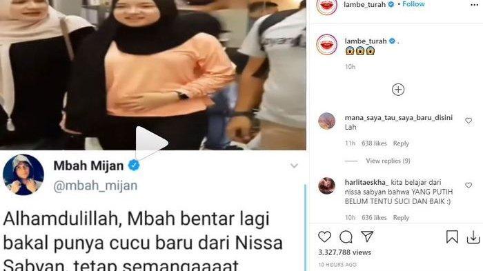 Video Nissa Sabyan pegang perut buncitnya viral hingga Mbah Mijan ikut berkomentar