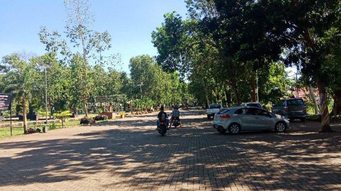 Dampak Wabah Corona di Kalsel, Begini Sepinya Suasana Pasar Pagi RTH Kijang Mas Pelaihari