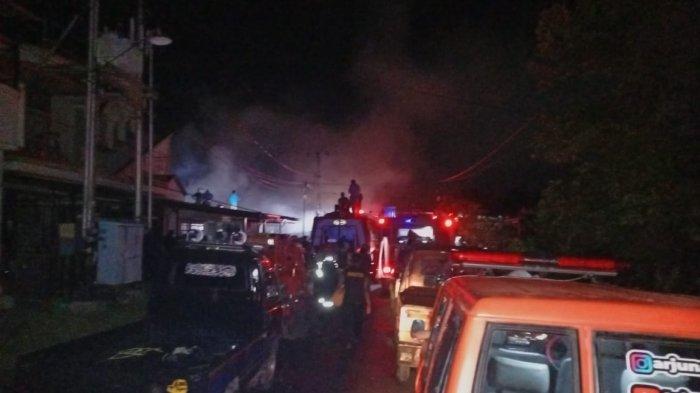 Kebakaran di Kalteng, Dua Rumah di Jalan Anggrek Palangkaraya Terbakar, Kerugian Rp250 Juta