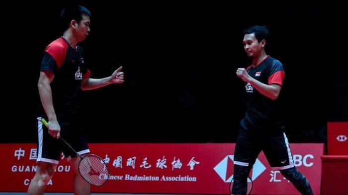 Ahsan/Hendra Main! Link Streaming TVRI Badminton Final BWF World Tour Finals 2021 Live TVOnline Usee