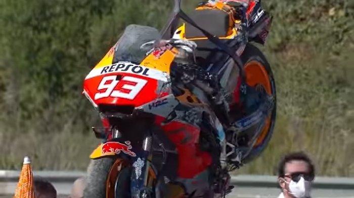 Kabar Terkini Cedera Marc Marquez di MotoGP Spanyol 2021, Start dari Posisi 14 di Sirkuit Jerez