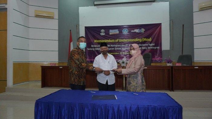 Stikes Intan Martapura dan PT Mataref Teken MoU, Terapkan Digitalisasi Pelayanan Informasi Kampus
