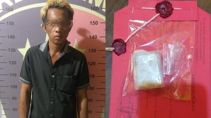 Narkoba Kalsel : Selipkan Sabu di Dinding Rumah, Buruh di Banjarmasin Tak Berkutik Diringkus Polisi