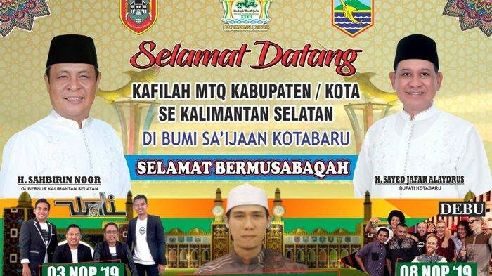 MTQ Tingkat Provinsi Kalsel di Kotabaru, Tuan Rumah Targetkan 3 Besar, Diramaikan Wali Band dan Debu