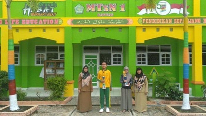 Pelajar MTs Negeri 1 Kapuas Raih Juara Tenis Meja Ajang PTMSI Kabupaten Kapuas