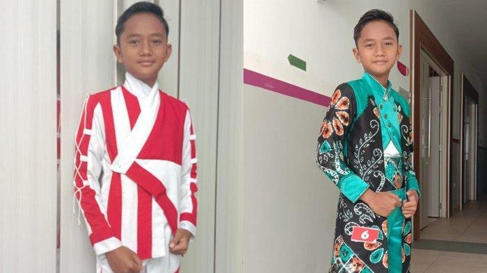 Raih Dua Gelar Juara Lomba Fashion Anak Banua, Fajri  Bangga Pakai Rancangan Abah Oky Sy