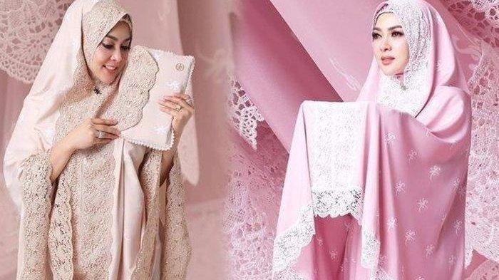 Harga Mukena dan Jilbab Berlapis Emas Syahrini, Bandingkan dengan Koleksi Istri Reino Sebelumnya