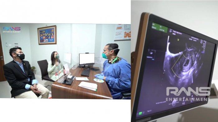 Raffi Ahmad dan Nagita Slavina bersama dokter kandungan cek kehamilan. (Rans Entertainment)