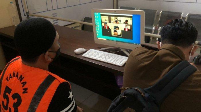 Narkoba Kalsel, sidang online kasus Sabu dan ekstasi yang dipimpin Kajari Tanbu M Hamdan