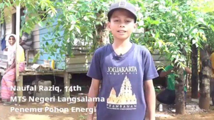 Hebat,  Bocah Naufal Raziq dari Aceh ini Temukan Sumber Listrik dari Pohon Kedondong Pagar