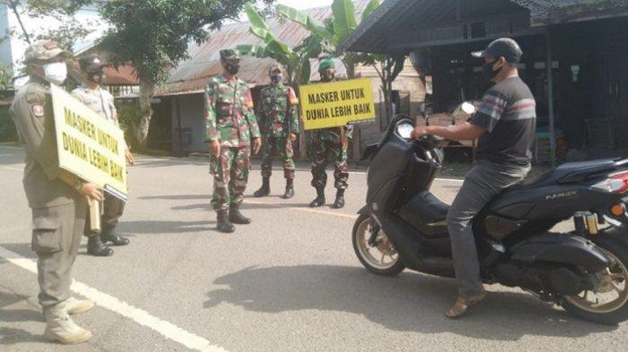 Sembilan Warga Terjaring Operasi Prokes di Jalan Margasari Tapin, Petugas Berikan Sanksi Ini