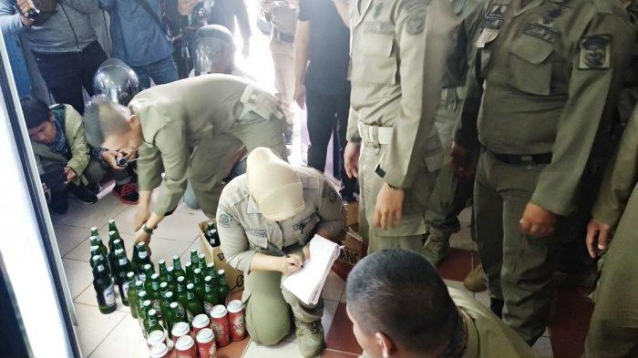 Tidak Hanya di A Yani, Satpol PP Kota Banjarmasin Juga Sambangi Penjual Minol di Veteran