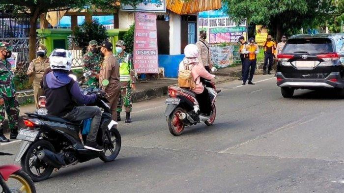 Petugas Gabungan di Banjarbaru Minimalsir Penyebaran Covid-19, Sasarannya Pengguna Jalan