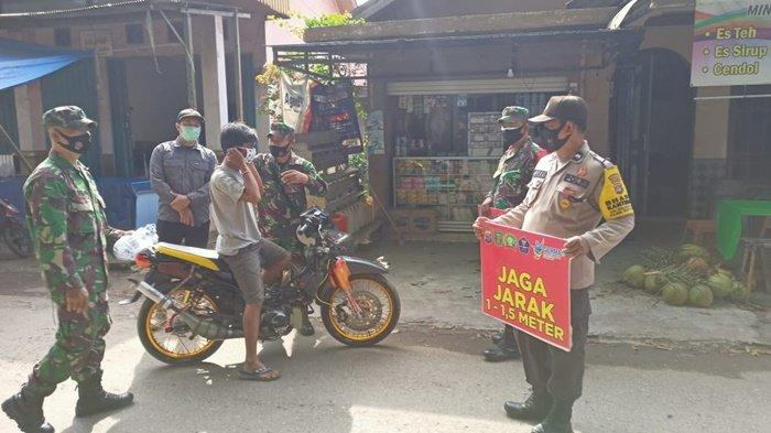 Operasi Yustisi di Pasar Kapar Tabalong, Tiga Pilar Kecamatan Murung Pudak Jaring Delapan Warga