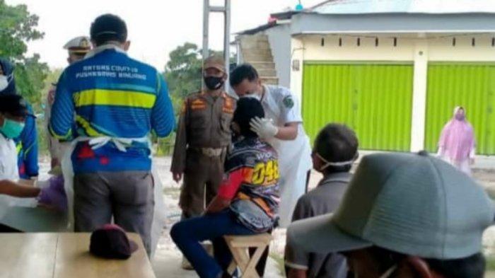 Operasi Yustisi Stationer di Binuang Tapin, Petugas Gabungan Temukan 13 Warga Positif Covid-19