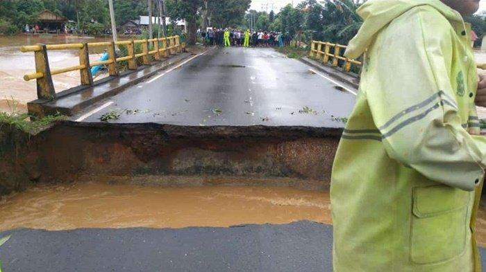 Jembatan Pabahanan Tanahlaut Putus, Balai Jalan Nasional Siapkan Jembatan Darurat Ke Pelaihari