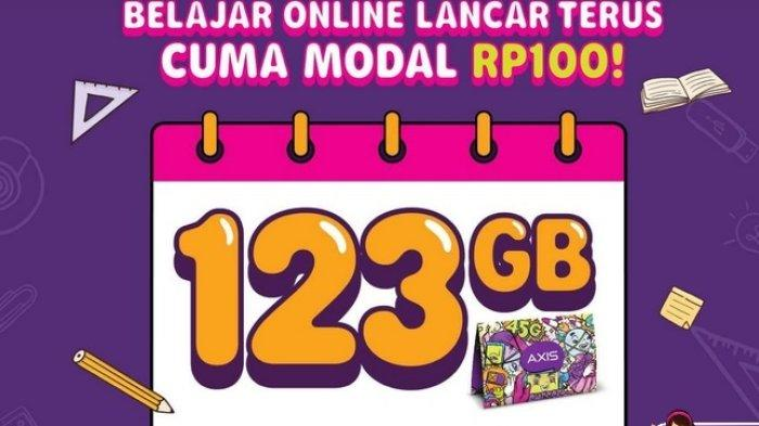 Paket Internet Murah Axis, Diskon Kuota Data Belajar Hingga 123GB Rp 100