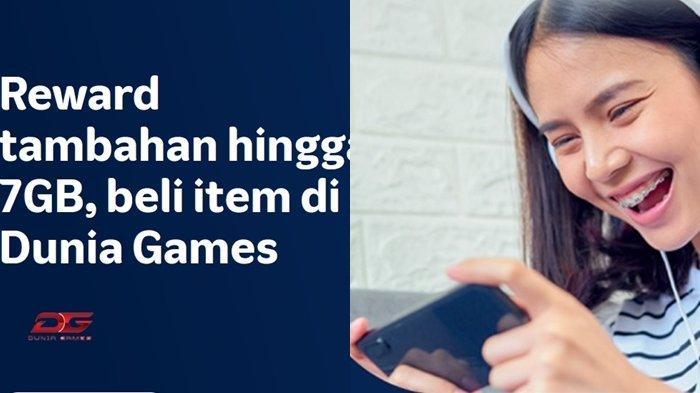Paket Internet Murah Telkomsel, Paket Dunia Games Data Reward Tawarkan Bonus Kuota Data Hingga 7GB