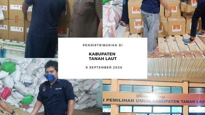 Pilkada Kalsel 2020, KPU Didistribusi APD ke Kabupaten dan Kota
