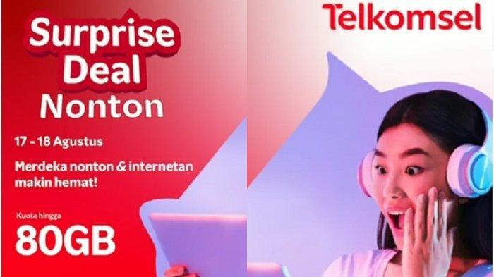 Paket Internet Murah Telkomsel SurpriseDeal Nonton, Bisa Nonton Hingga 80 GB Tayangan Favorit
