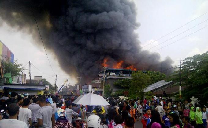 Kebakaran Melanda Pasar Besar Palangkaraya