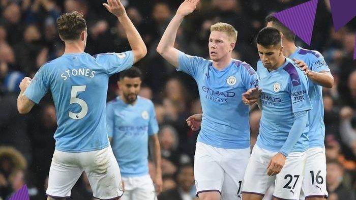 Hasil Liga Inggris 2019-2020 - Comeback Man City, The Citizens Sukses Kudeta Chelsea