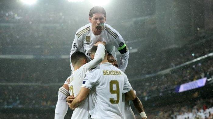 Hasil Liga Champions 2019-2020 - Real Madrid Gagal Sikat PSG, Gara-gara Gagal Kartu Merah