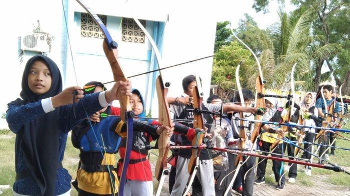 Tempat Panahan GOR Hasanuddin Direhab, Para Atlet Panah Pangkas Jarak Tembak Latihan