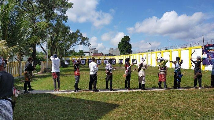 Lomba Panahan Tradisional Akhiri Festival Lima Cabor Kalsel, Animo Peserta Terkendala Prokes