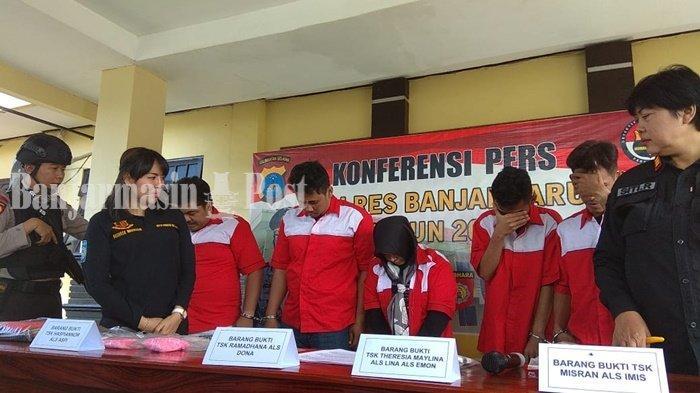 Jaringan Internasional Pengedar Sabu Malaysia Theresia Maylina Dibekuk Satresnarkoba Banjarbaru