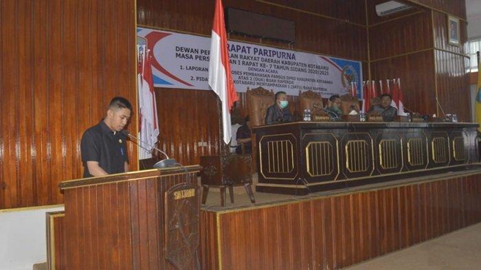 Paripurna DPRD Kotabaru pengesahan dua buah raperda, Senin (26/10/2020)