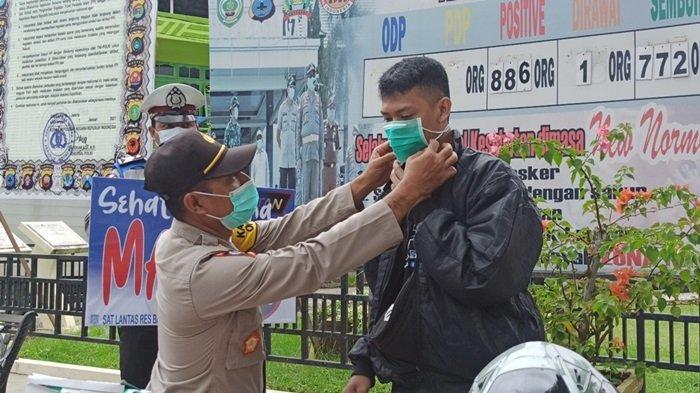 Gelar Operasi Yustisi di Kabupaten Balangan, Pengendara Tak Pakai Masker Dikenakan Tindakan Sanksi