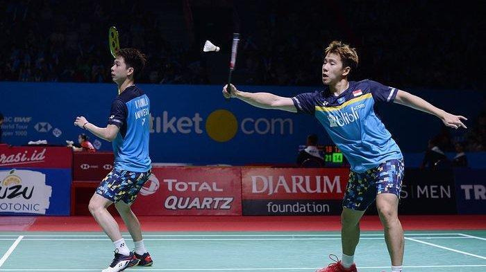 SEKARANG Marcus/Kevin Main! Link Live Streaming TVRI Japan Open 2019 Babak Semifinal Sabtu (27/7)