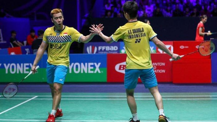 Marcus/Kevin Menang! Live Streaming Perempatfinal Fuzhou China Open 2019 Cek YouTube BWF & TVRI