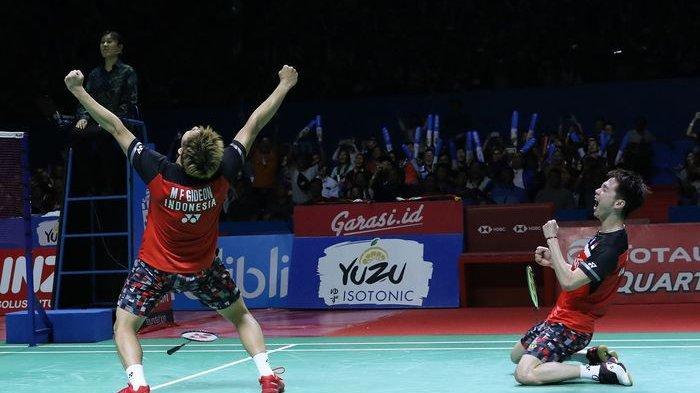 Hasil Final Japan Open 2019 : Marcus/Kevin Juara, Ahsan/Hendra Kalah, Cek Live Streaming TVRI