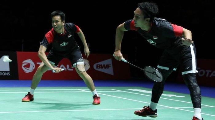 SESAAT LAGI Ahsan/Hendra Main! Live Streaming TVRI BWF World Tour Finals 2019, Anthony Ginting Kalah