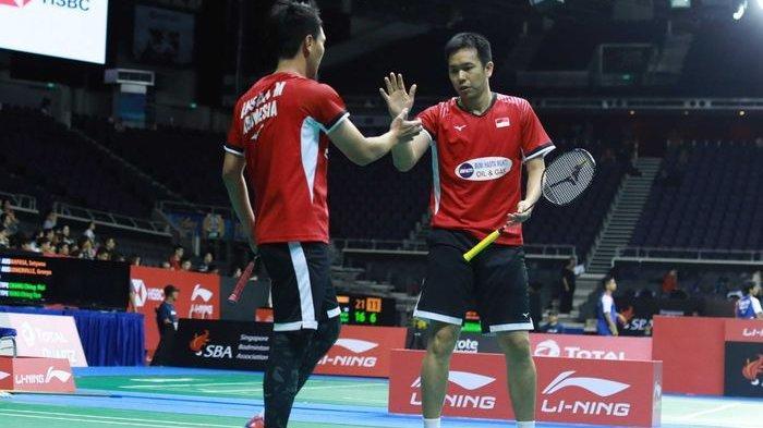 Ahsan/Hendra Juara! Hasil Final Badminton BWF World Tour Finals 2019, Anthony Ginting Runner Up