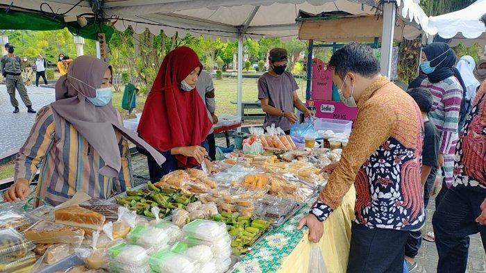 Wabah Corona Kalteng, Lokasi Pasar Ramadhan Sampit Tak Seramai Dulu, Protokol Kesehatan Diperketat