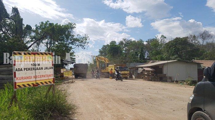 Waspadai Area Berlubang di Jalan Lingkar Utara Kawasan Sungai Tabuk