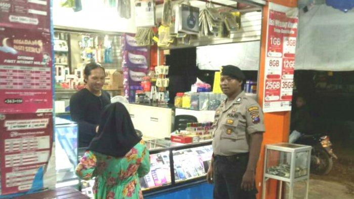 Patroli Dialogis, Polisi Tanahbumbu Ini Imbau Pemilik Toko Pasang CCTV