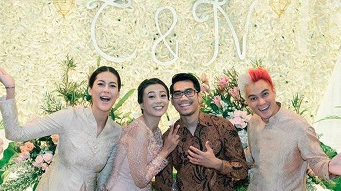 Paula Verhoeven hadiri pertunangan sang adik, Chelzea Verhoeven dengan Nail Fadhly bersama Baim Wong.