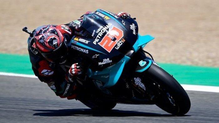 RACE Live Trans 7! Link Streaming MotoGP Spanyol 2021, Hasil MotoGP Sementara : Quartararo Melorot